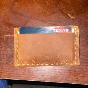 Bourbon brown Cowhide Leather Wallet Hand Made